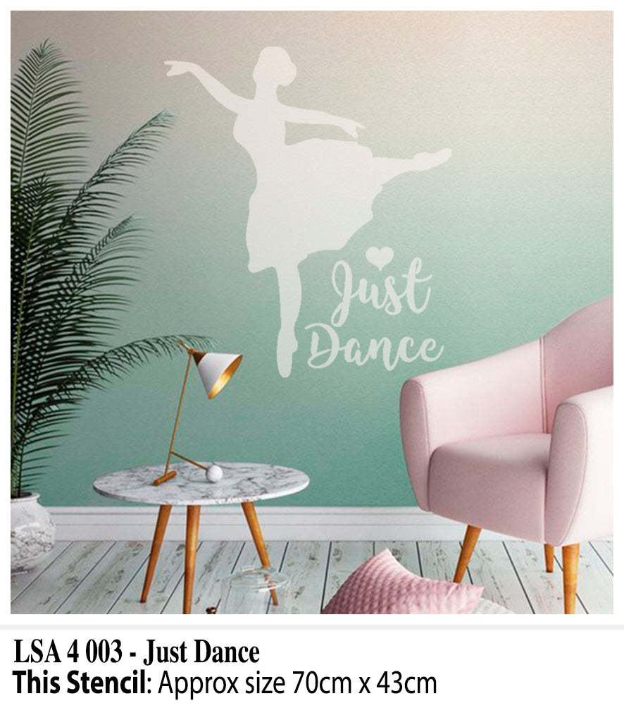 Just Dance Wall Stencil