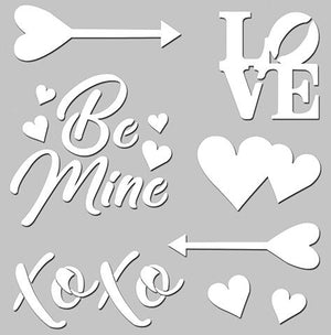 Love Story Clear Stencil - Be Mine