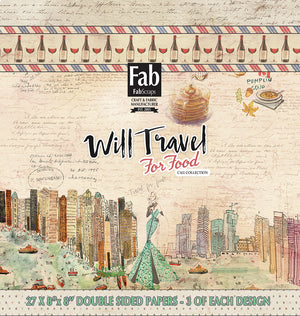 Will Travel For Food Paper Pad- 8'x8'