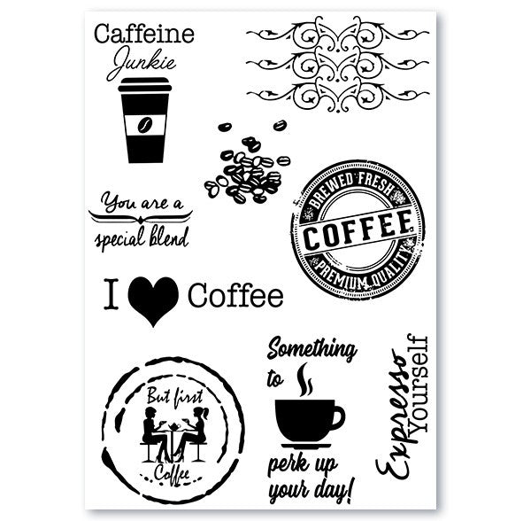I 🖤 Coffee Silicone Stamp