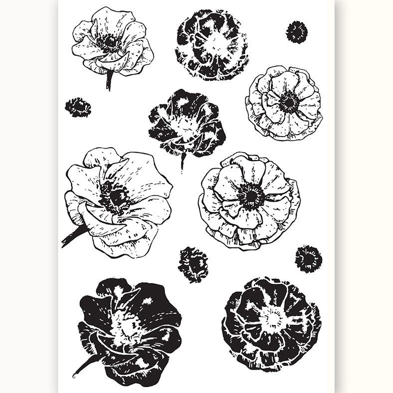 Poppy Field Silicone Stamp