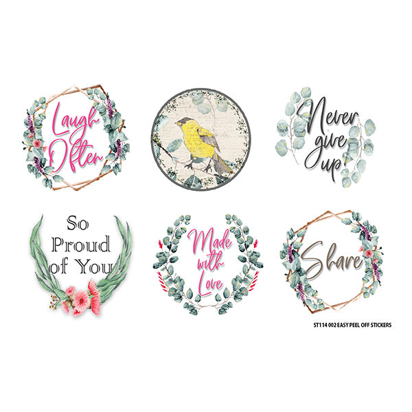 Free Spirit Small Sticker Sheet- Laugh Often