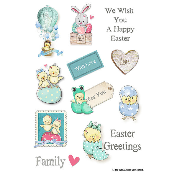 Egg-Stravaganza Large Sticker Sheet- Easter Greetings