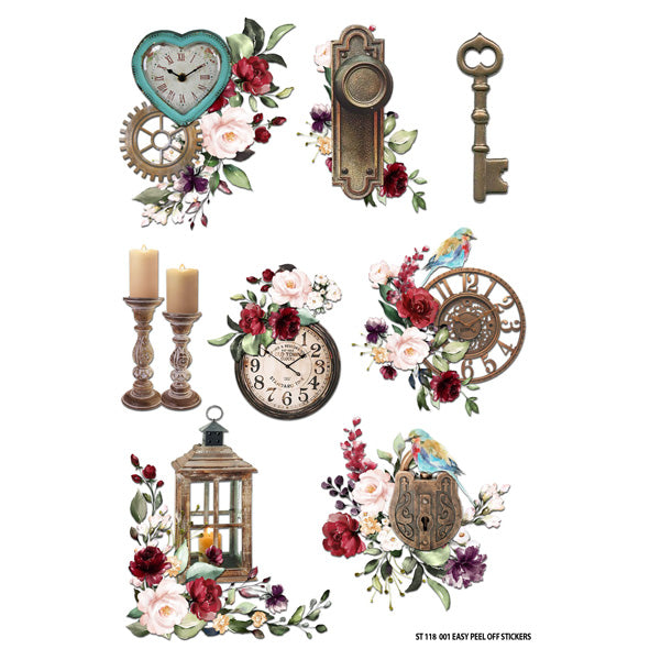 Antique Rose Sticker Sheet