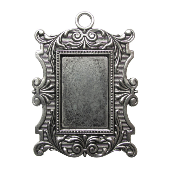 Silver Charms- Ornate Frame