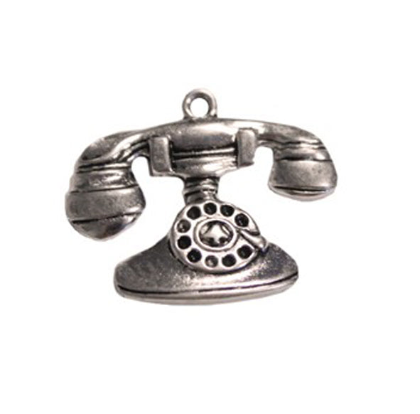 Silver Charms- Vintage Telephone
