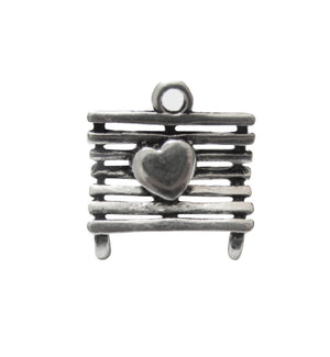 Silver Charms- Heart Bench