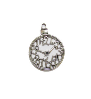 Silver Charms- Pocket Clock