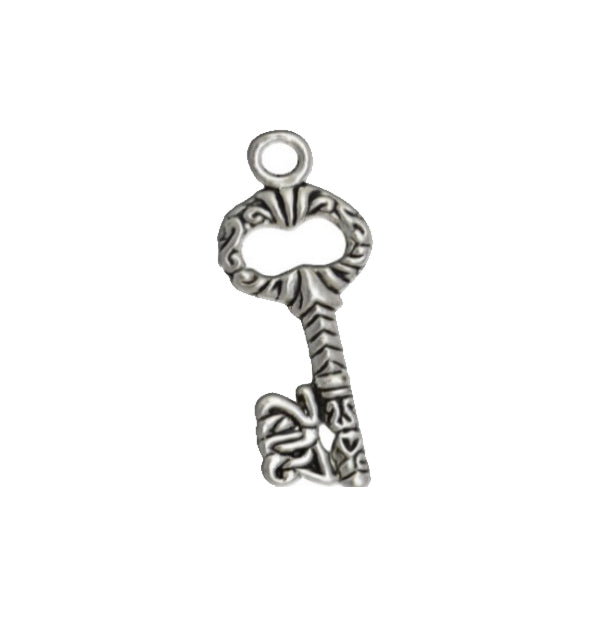 Silver Charms- Filligree Key