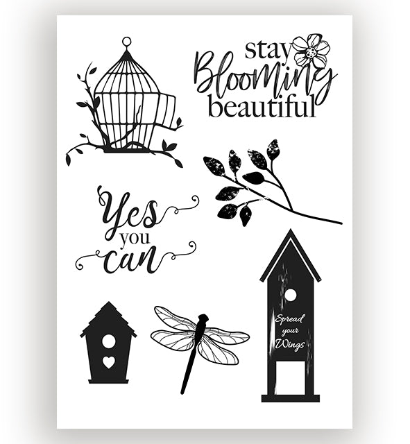 Blooming Beautiful Silicone Stamp
