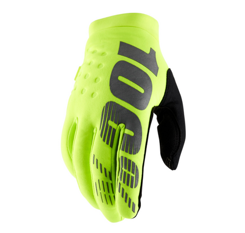 100% Brisker Cold Weather YOUTH Glove Fluo Yellow