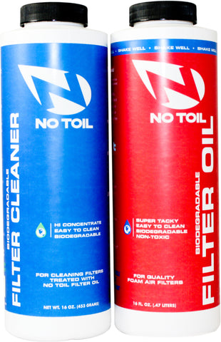 No Toil - 16 Oz Twin Pack (Oil & Air filter Cleaner)