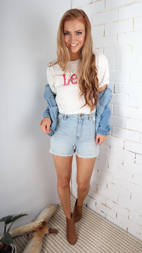 Harlow Denim Shorts by All About Eve