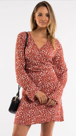 Mini bloom twist dress by All About Eve