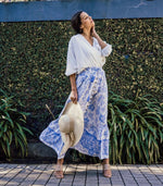 Blue Veronika Maxi Skirt