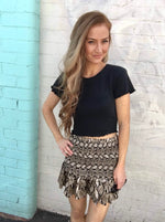 Desert Ruched Mini Skirt by ALL ABOUT EVE