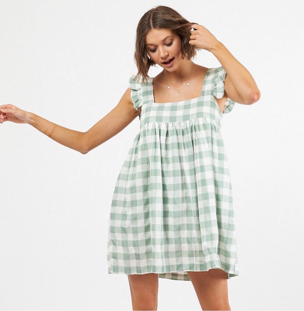 Wooven Gingham Dress
