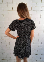 Something Floral Tea Dress- Black