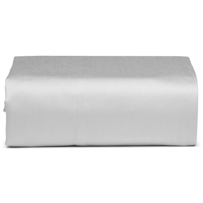 Light Grey Organic Fitted Sheet - Square Flower