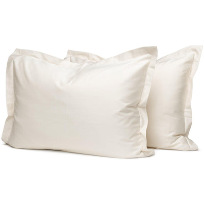 Raw Organic Oxford Pillowcases - Square Flower