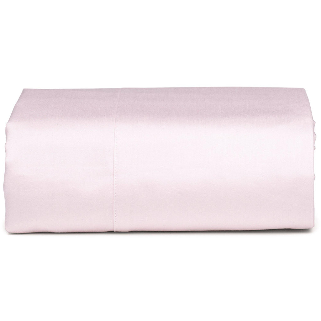 White Organic Fitted Sheet - Square Flower