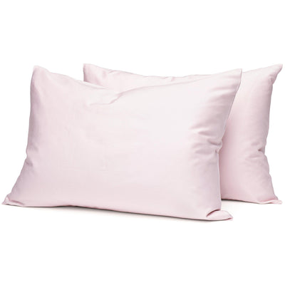 Blush Organic Pillowcases - Square Flower