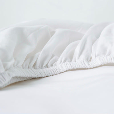 Organic Fitted Sheet - Square Flower