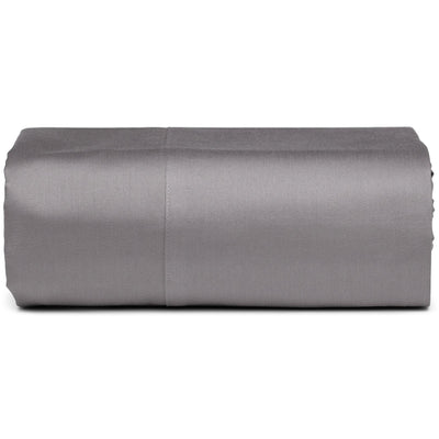 Taupe Grey Organic Fitted Sheet - Square Flower