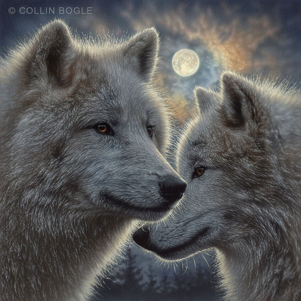 Moonlight Mates Painting Art Print by Collin Bogle