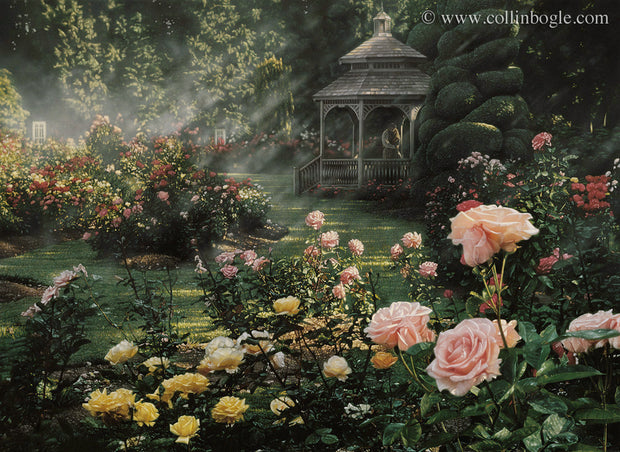 Rosegarden painting art print by Collin Bogle.