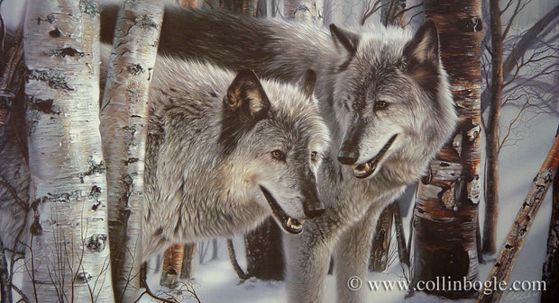 Winter Companions - Wolves