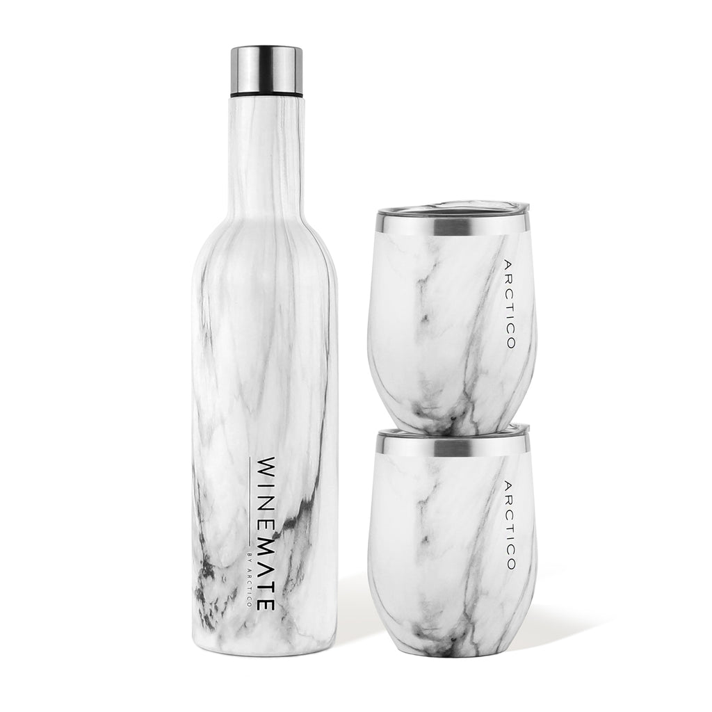 Winemate 750ml Bottle & 2x DVINE 355ml Wine Glass Gift Set