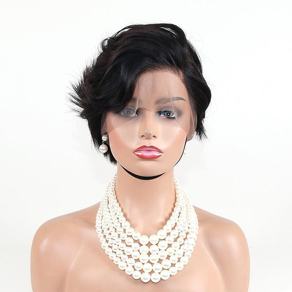 Celebrity Style Pixie Short Cut Full Lace Wig