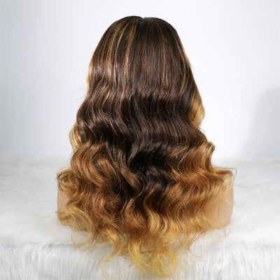 Celebrity Highlight Balayage Full Lace Wig