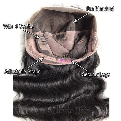 Undetectable Invisible Lace Best Virgin Hair Full Lace Wig / Upgraded 2.0