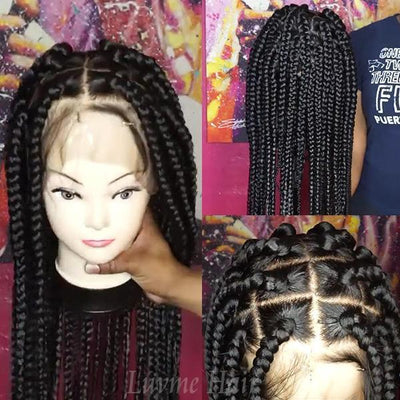 Affordable Full Lace Wig For Making Box Braid Wig ( Get 2 Bundles Braid Hair for Free )