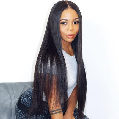 Super Long Straight Hair High Density Frontal Lace Wig