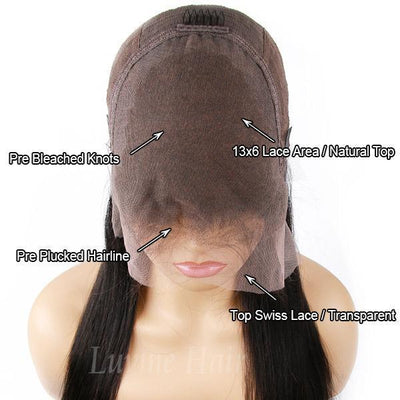Undetectable Invisible Lace Best Virgin Hair 13x6 Glueless Frontal Lace Wig