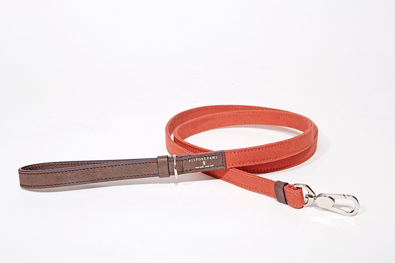 Dog Leash-Small Canvas with Leather combo