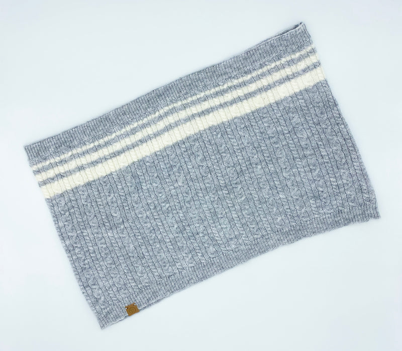 Cashmere Blend Scarf sets for Pets and their humans, Heather Grey