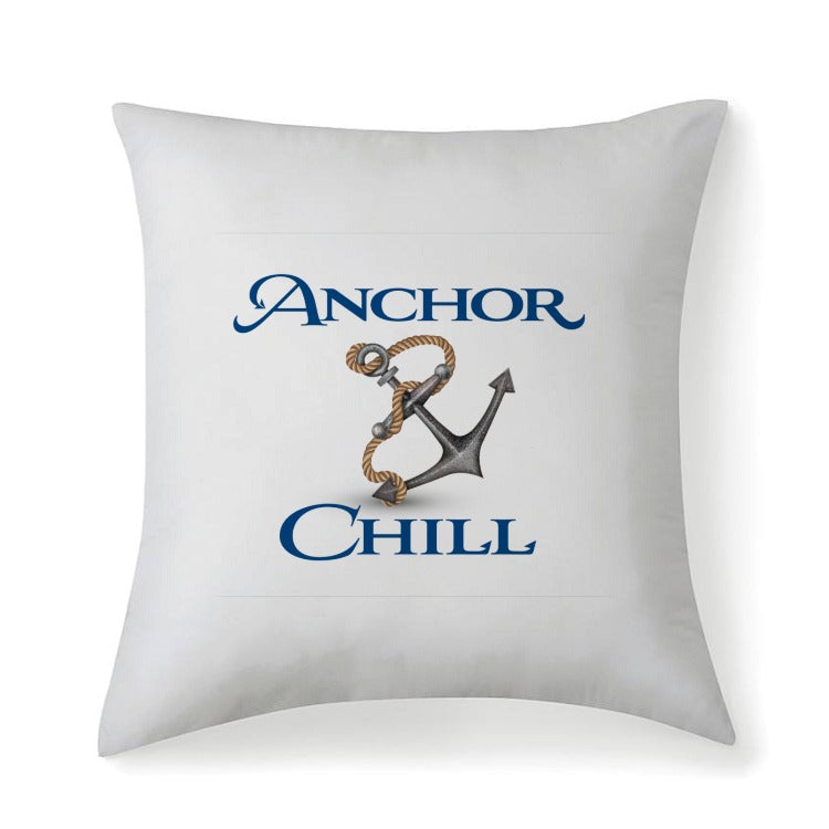 Anchor & Chill Multi sized Premium Microfiber Fabric Throw Square Pillow