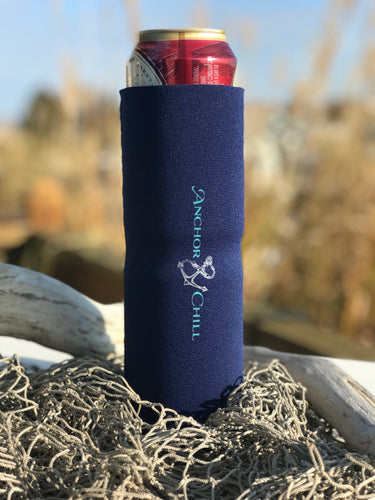 Double Can Koozie Navy