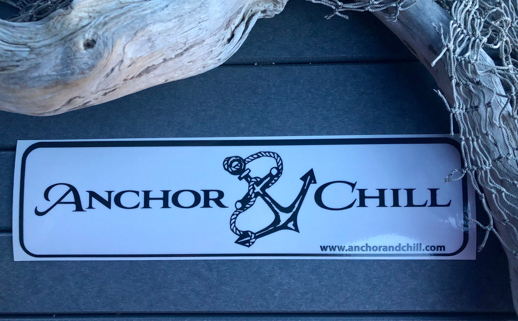 Anchor and Chill Rectangle Decal