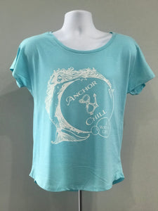 Ladies Mermaid with Bubbles T-shirt