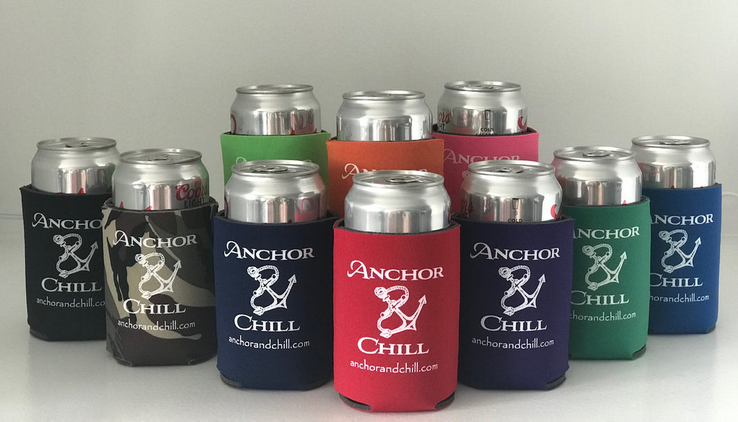 Anchor & Chill Can Koozie