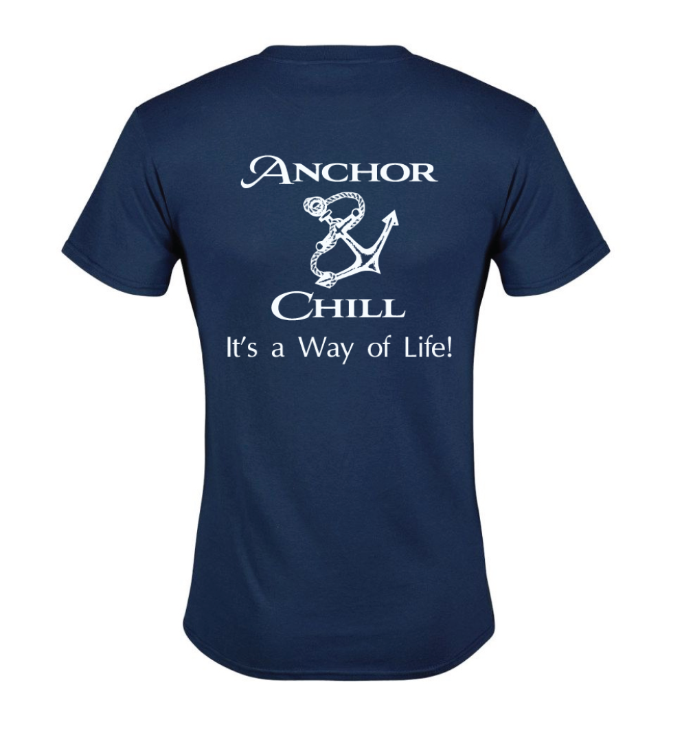 Anchor & Chill Navy T-shirt