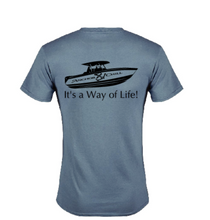 Load image into Gallery viewer, Slate Anchor & Chill Boat T-shirt