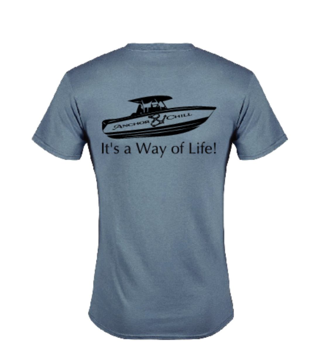 Slate Anchor & Chill Boat T-shirt