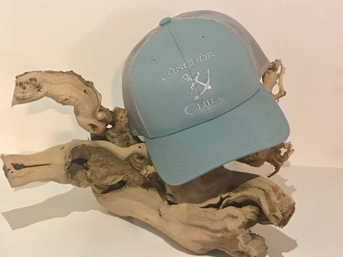Anchor & Chill Smoke Blue Trucker Hat