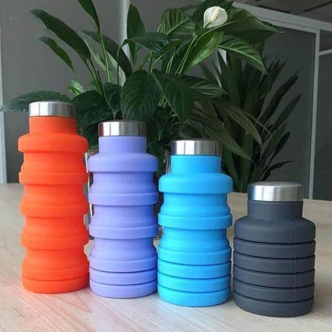 Hapyyness 500ML / Blue Super Flexible & Collapsible Water Bottle